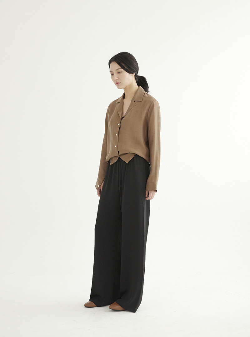 Wide Jersey Pants Black