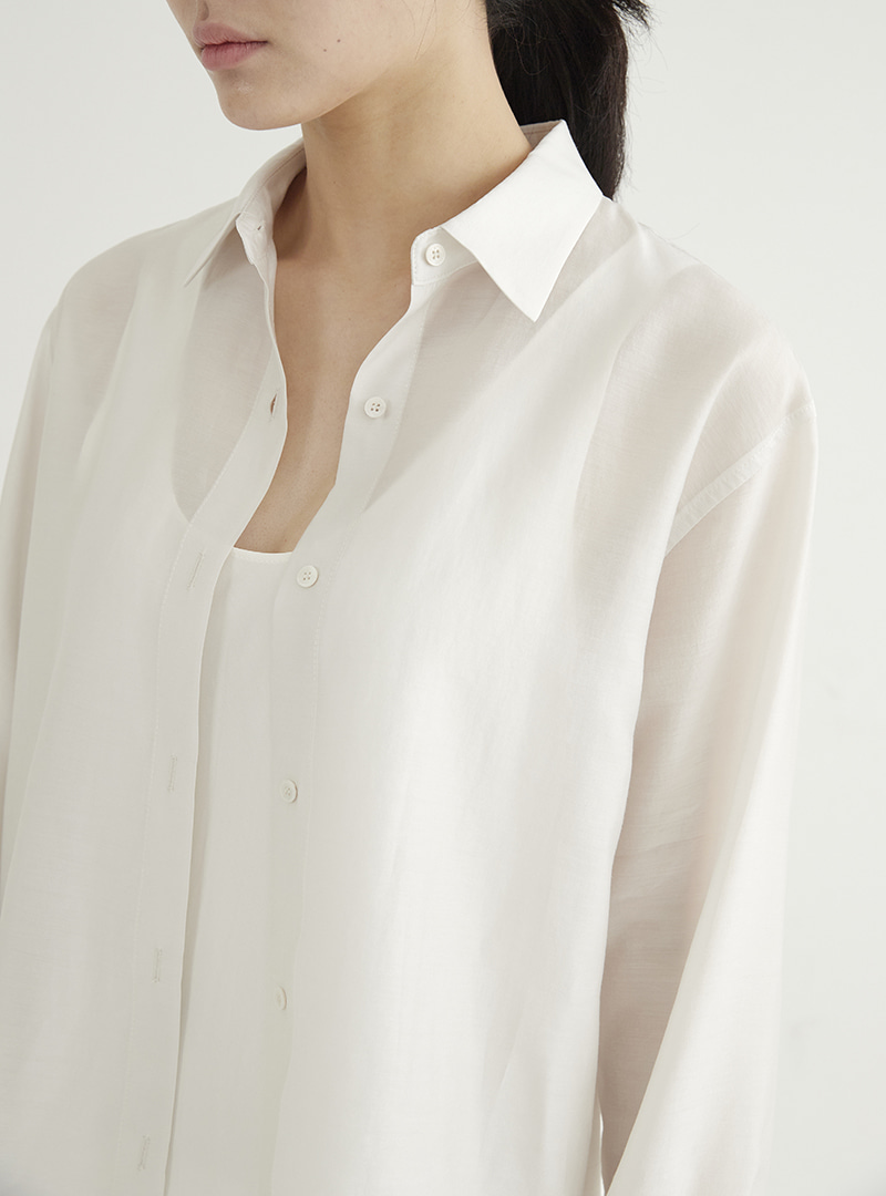 Tencel Box Shirt Offwhite