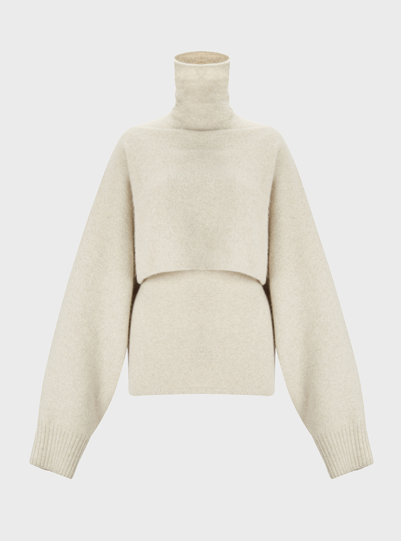 Two Piece Turtleneck Oatmeal